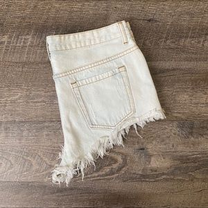 Forever 21 Light Wash Destructed Jean Shorts